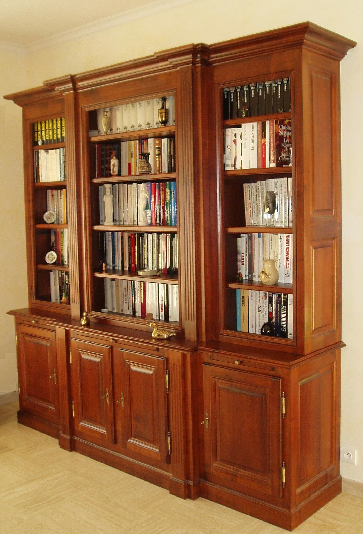 bibliothéque en merisier -> Creer Une Bibliotheque En Bois